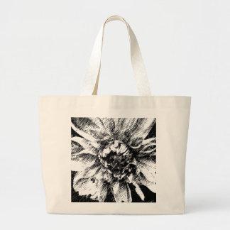 Graphic Chrysanthemum Large Tote Bag