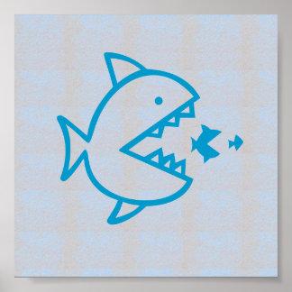Graphic decorations Sea Beach FISH EAT FISH Print