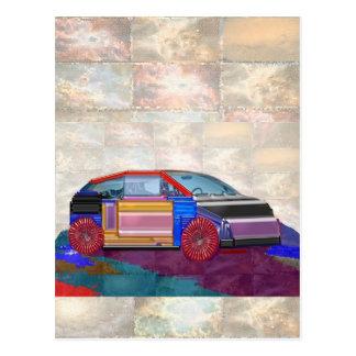 Graphic Design: Exotic Car Postcard