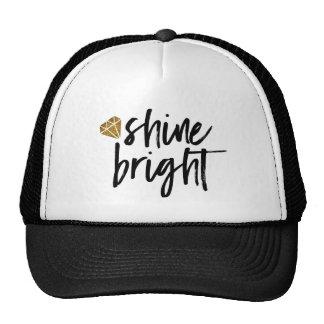 Graphic Shine Bright Text With Gold Diamond Cap