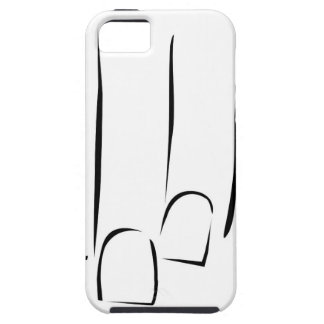 Graphic showing nail care or manicure case for the iPhone 5