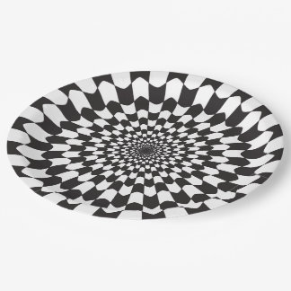 GRAPHIC WAVE PRINT 9 INCH PAPER PLATE