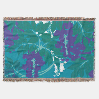 Graphic Wisteria Throw Blanket