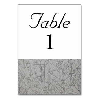 Graphite 'Tree' Table Number