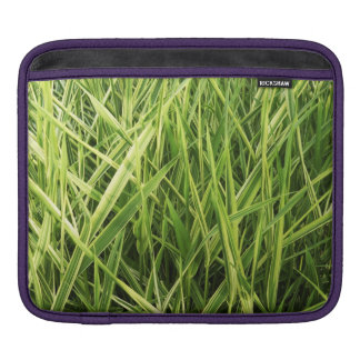 Grass Blades Nature Abstract Shapes Fashion style iPad Sleeve