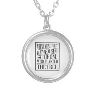 Gratitude - Wise Old Vietnamese Expression Silver Plated Necklace