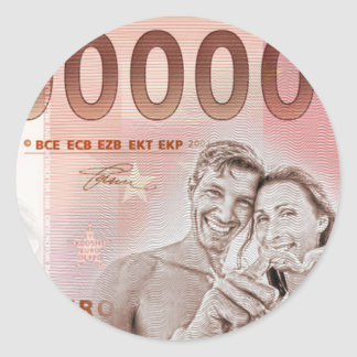 Gratuity to the wedding - 1-Mio-Euro Classic Round Sticker