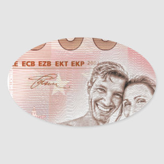 Gratuity to the wedding - 1-Mio-Euro Oval Sticker