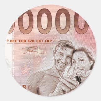 Gratuity to the wedding - 1-Mio-Euro Round Sticker