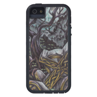 Grave yard tree with celtic cross case for the iPhone 5