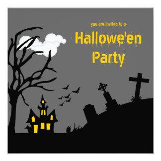 Graveyard Castle Hallowe en Party Invitation