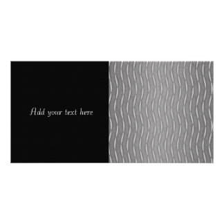 Gray Abstract Modern Striped Design Photo Card Template