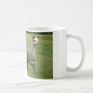 Gray Alpacas Running Basic White Mug