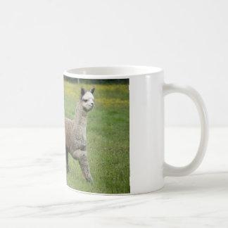 Gray Alpacas Running Basic White Mug