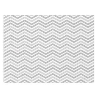 Gray and White Chevron Stripe Tablecloth