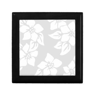 Gray and White Floral Gift Box