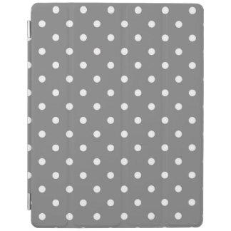 Gray and White Polka Dot iPad Cover