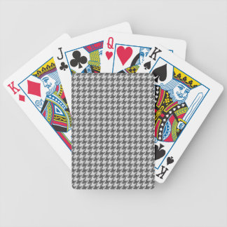 Gray and White Textured Houndstooth Pattern Bicycle Playing Cards