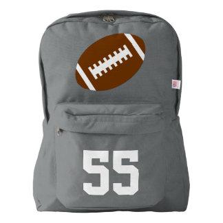 Gray Backpack: Football Backpack