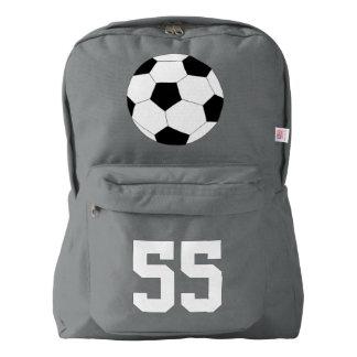 Gray Backpack: Soccer Backpack