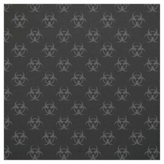 Gray Biohazard Symbol Pattern Fabric