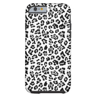 Gray Black Leopard Animal Print Pattern Tough iPhone 6 Case