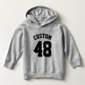 Gray & Black Toddler | Sports Jersey Hoodie