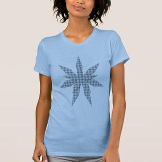 Gray Blue Stripe Star Women s Shirt