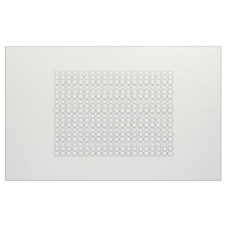 GRAY BUBBLES ON WHITE FABRIC