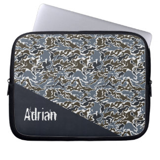 gray camouflage army laptop sleeves