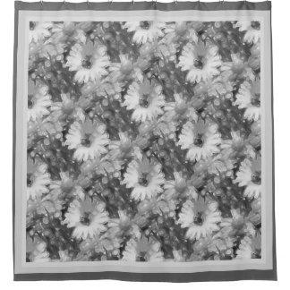 Gray Daisy Shower Curtain