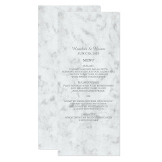 Gray Elegant Marble Wedding Menu Card