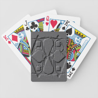 Gray Engraved Bicycle Playing Cards