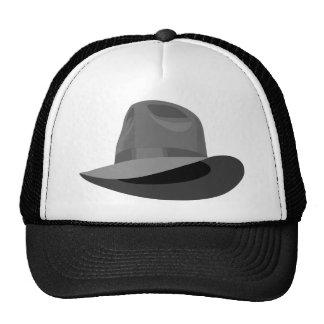 Gray Fedora narrow ribbon Trucker Hat