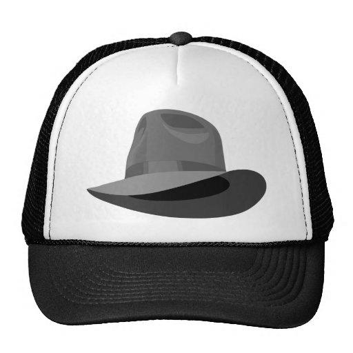 Gray Fedora narrow ribbon Hats