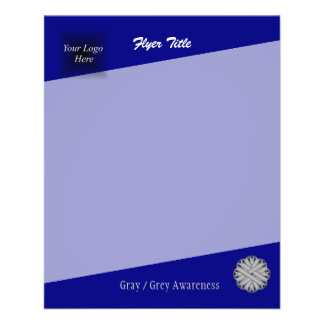 Gray Flower Ribbon by Kenneth Yoncich Flyer