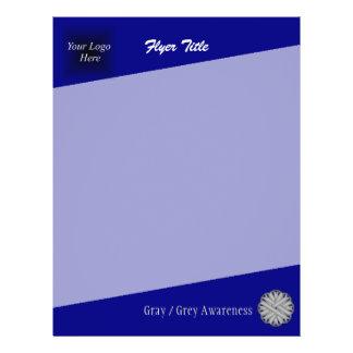 Gray / Grey Flower Ribbon Flyer