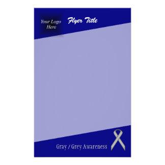 Gray / Grey Standard Ribbon Flyer