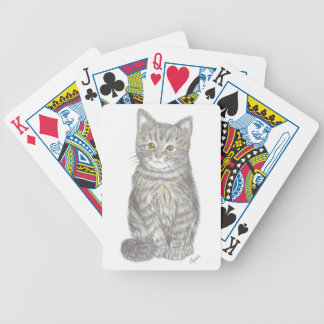 Gray Kitten Playing Cards