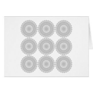 Gray Lace Design Pattern. Card