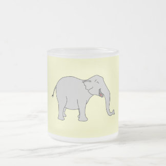 Gray Laughing Elephant Cartoon Mugs