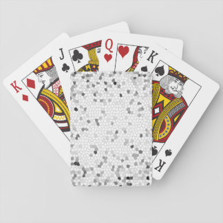 Gray Mosaic Tiling Playing Cards