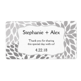 Gray Mum Water Bottle Favor- customize it! Shipping Label