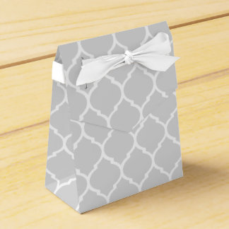 Gray Pattern Treat Boxes