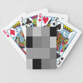 gray plaid deck of playing cards