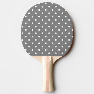 Gray Polka Dot Ping Pong Paddle