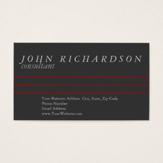 Gray Simple Modern Elegant Business Card