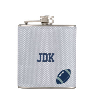 Gray Sports Jersey Football Flask