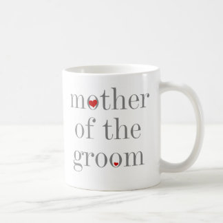 Gray Text  Mother of Groom Basic White Mug
