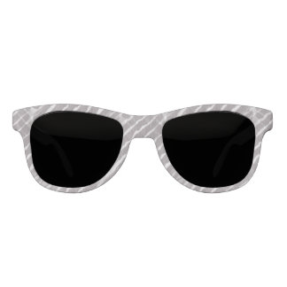 Gray Tiger Stripes Canvas Look Sunglasses